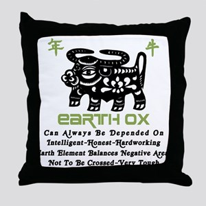 Earth Ox Throw Pillow