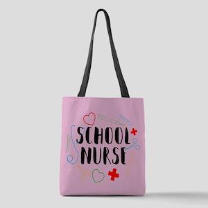 School Nurse Polyester Tote Bag