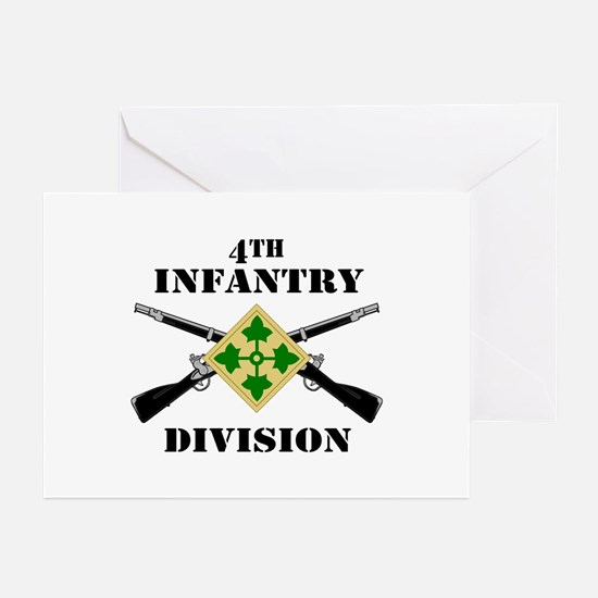 4th Infantry Division (2) Greeting Cards (Pk of 10