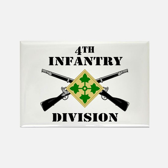 4th Infantry Division (2) Rectangle Magnet