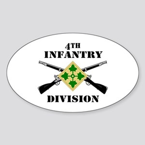 4th Infantry Division (2) Oval Sticker