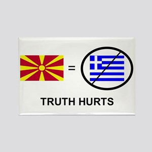 Macedonian not Greek Rectangle Magnet