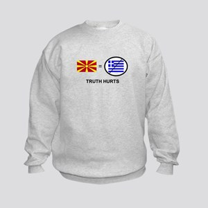 Macedonian not Greek Kids Sweatshirt