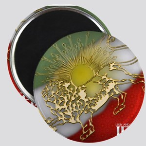 Iran Golden Lion & Sun Magnets