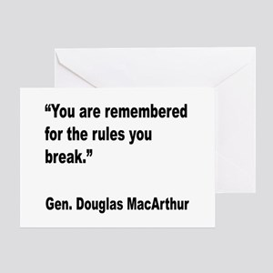 MacArthur Break Rules Quote Greeting Card