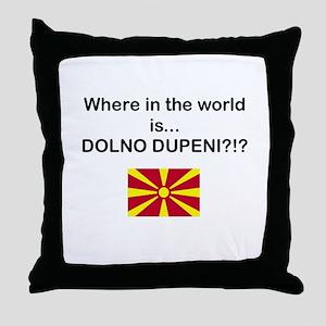 Macedonia - Where is Dupeni Prespa Throw Pillow