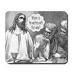 Jesus Wine Mousepad