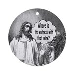 Jesus Wine Ornament (Round)