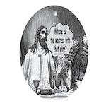 Jesus Wine Oval Ornament