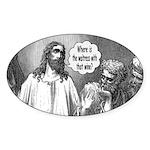 Jesus Wine Oval Sticker (10 pk)