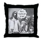 Jesus Wine Throw Pillow