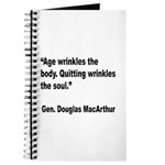 MacArthur Quitting Quote Journal