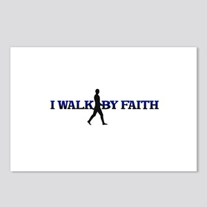 I WALK BY FAITH Postcards (Package of 8)