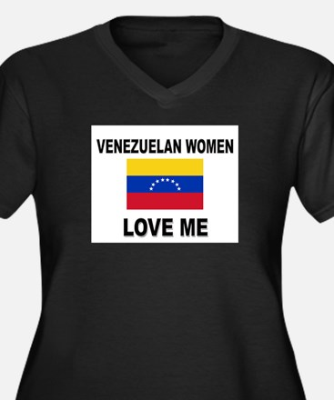 Venezuelan Love Me Women's Plus Size V-Neck Dark T
