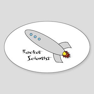 Rocket Scientist Oval Sticker