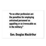 MacArthur Untrained Personnel Quote Postcards (Pac