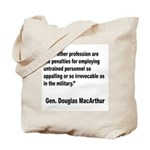 MacArthur Untrained Personnel Quote Tote Bag