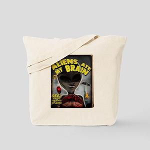 Aliens Ate My Brain Pulp Cove Tote Bag