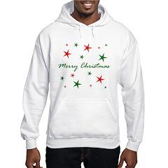 Merry Christmas Stars Hoodie