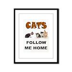 CATS Framed Panel Print