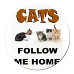 CATS Round Car Magnet