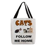 CATS Polyester Tote Bag