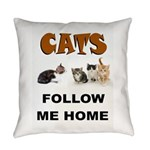 Cats Everyday Pillow