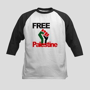 Free Palestine - Palestinian Flag Baseball Jersey