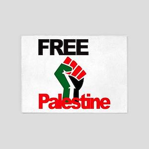 Free Palestine - Palestinian Flag 5'x7'Area Rug
