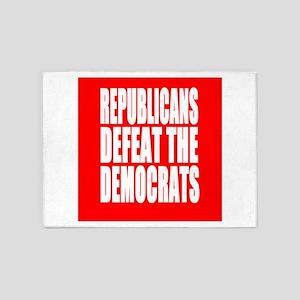 Republicans Defeat The Democrats 5'x7'Area Rug