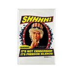 Freedom Silence Rectangle Magnet (10 pack)