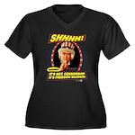 Freedom Silence Women's Plus Size V-Neck Dark T-Sh
