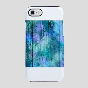 Iridescent Blue Wood iPhone 8/7 Tough Case