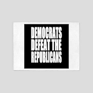Democrats Defeat The Republicans 5'x7'Area Rug