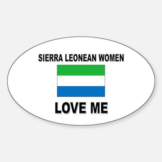 Sierra Leonean Love Me Oval Decal