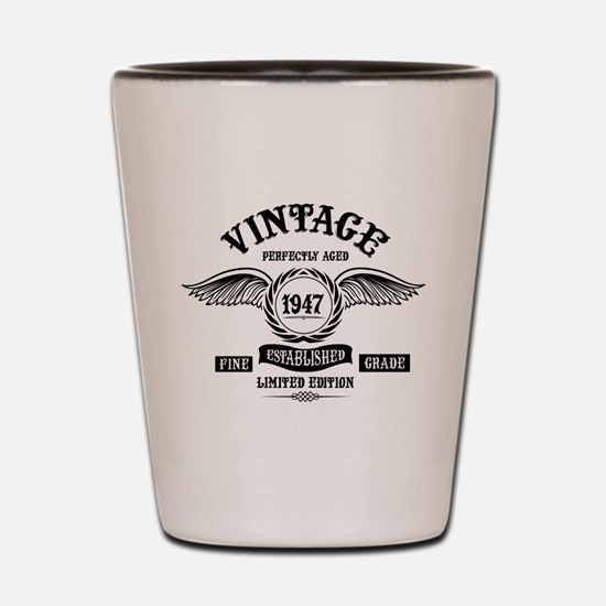 Vintage Perfectly Aged 1947 Shot Glass