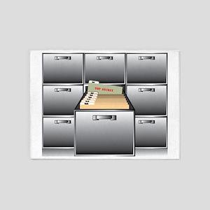Top Secret file folder 5'x7'Area Rug