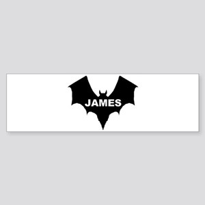 BLACK BAT JAMES Bumper Sticker