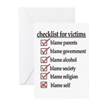 Checklist For Victims Greeting Cards (Pk of 20)