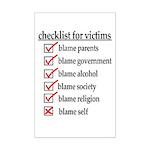 Checklist For Victims Mini Poster Print
