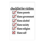 Checklist For Victims Postcards (Package of 8)