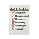 Checklist For Victims Rectangle Magnet