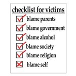 Checklist For Victims Small Poster