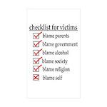 Checklist For Victims Rectangle Sticker 10 pk)