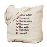 Checklist For Victims Tote Bag