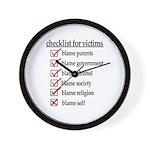 Checklist For Victims Wall Clock