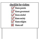Checklist For Victims Yard Sign