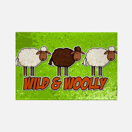 Wild and Woolly (trio) Rectangle Magnet