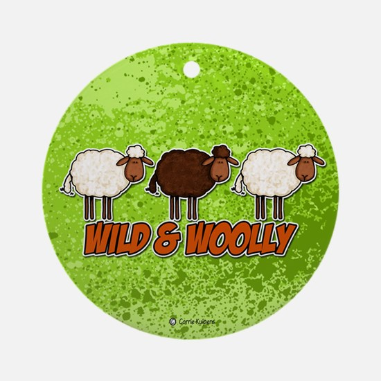 Wild and Woolly (trio) Ornament (Round)