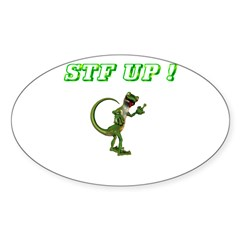 STF UP ! Gecko Oval Decal